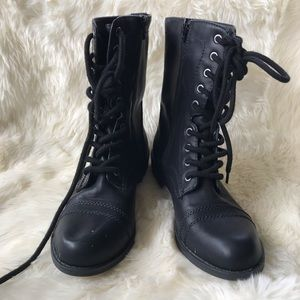 FADED GLORY Lace Up Combat Boots